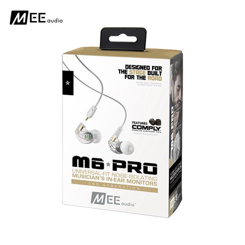 24 heures d'expédition! MEE M6 PRO 2ND génération moniteurs intra-auriculaires pour musicien à isolation sonore avec câbles détachables écouteurs sport