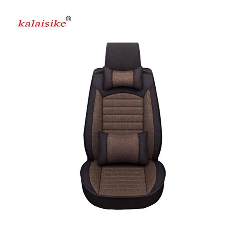 Kalaisike льна Универсальный Автомобильный Чехлы для сидений мотоциклов подходят для большинства автомобилей Салонные аксессуары седанов Чех...