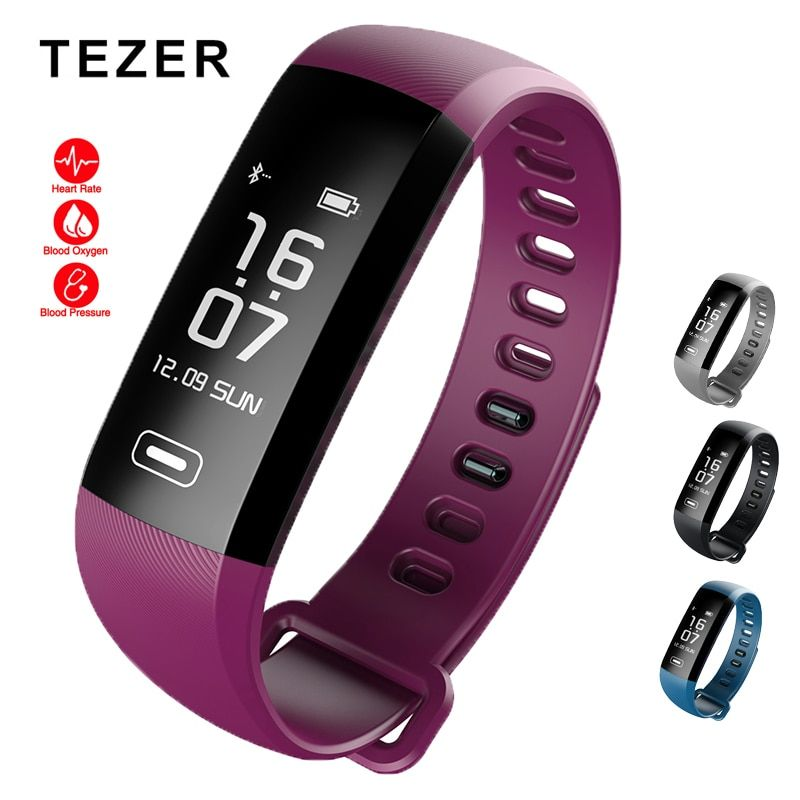 Original Tezer R5 Max smart wristband Heart rate Blood pressure sport smart wrist band pedometer smart watch for iOS Android