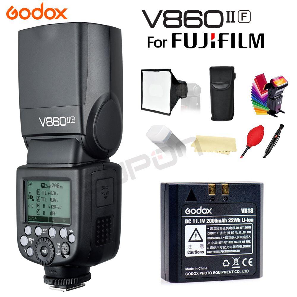 Godox Flash Speedlite V860IIF V860II-F Selfie Light 2.4G 1/8000s 2000mAh Li-on Battery Camera Flash light for Fujifilm+gifts