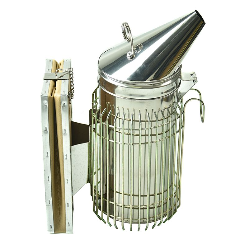 New design Bee Hive Smoker Stainless Steel Beekeeping Tool Equipment Free shipping