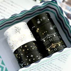Christmas Gift Black & White Washi Tape Lot Masking Tape Posted It Japanese New Stickers 2017 Kawaii Stationery School Supplies