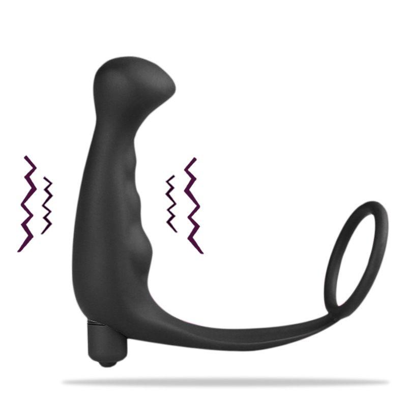 Mâle Retard Climax Prostate Masseur Anal Vibrateur Sex Toys pour Hommes Érotique Jouets Queue Anal Vibrant Produits de Sexe Faloimitateur