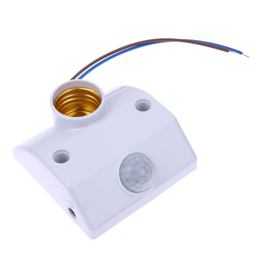 E27 AC220 50/60HZ Infrared Motion Sensor Automatic Light Lamp Holder Switch Intelligent Light Motion Sensing Switch W/ Screws