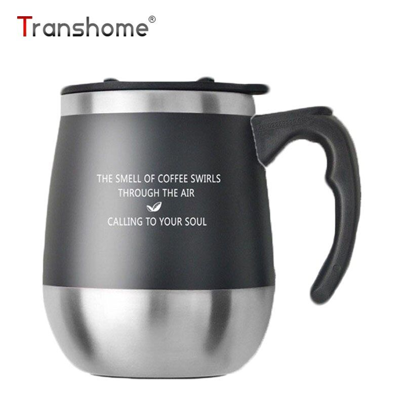 Transhome grand ventre Thermos tasse à café tasse avec couvercle en acier inoxydable Thermos tasse voyage tasses à café Thermos sous vide avec brosse