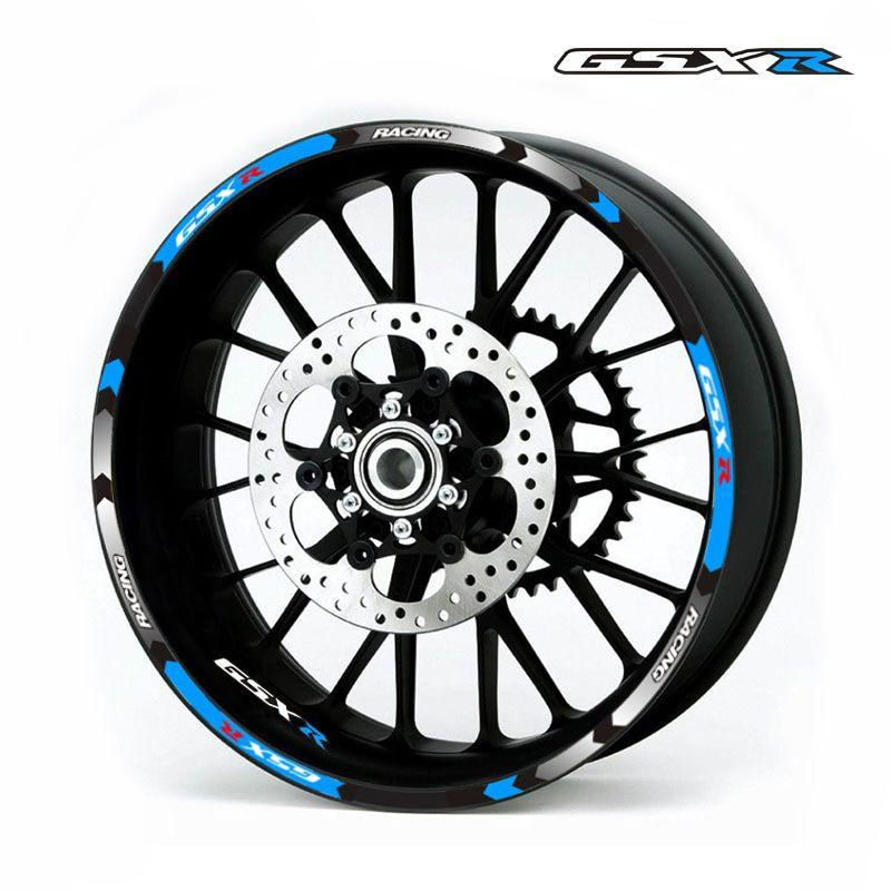 Motorcycle Rim stripes Decals 17inch Wheel Sticker Reflective Tape For Suzuki GSX-R 250 400 600 1000 750 GSXR1000R