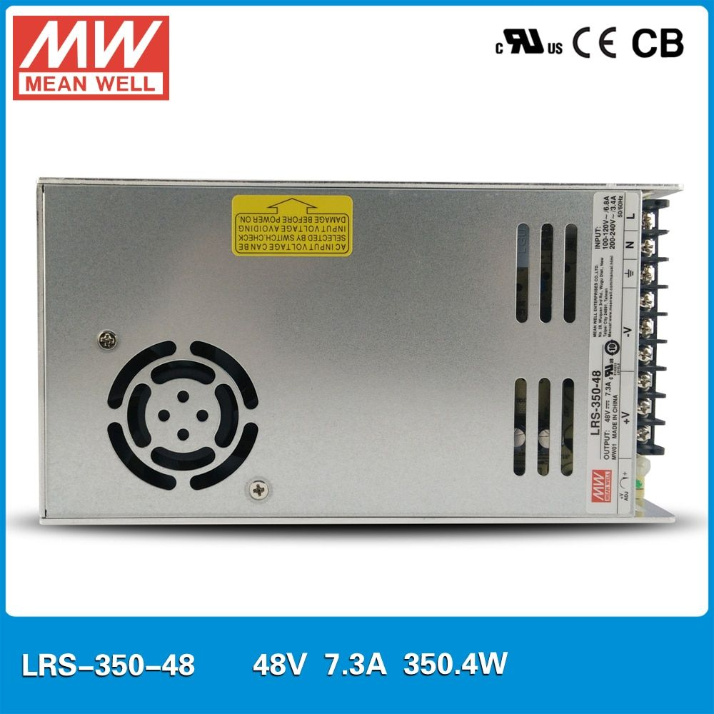 Original MEAN WELL LRS-350-48 Single Output 350W 7.3A 48V meanwell Power Supply UL CB CE 30mm thickness 110VAC or 230VAC