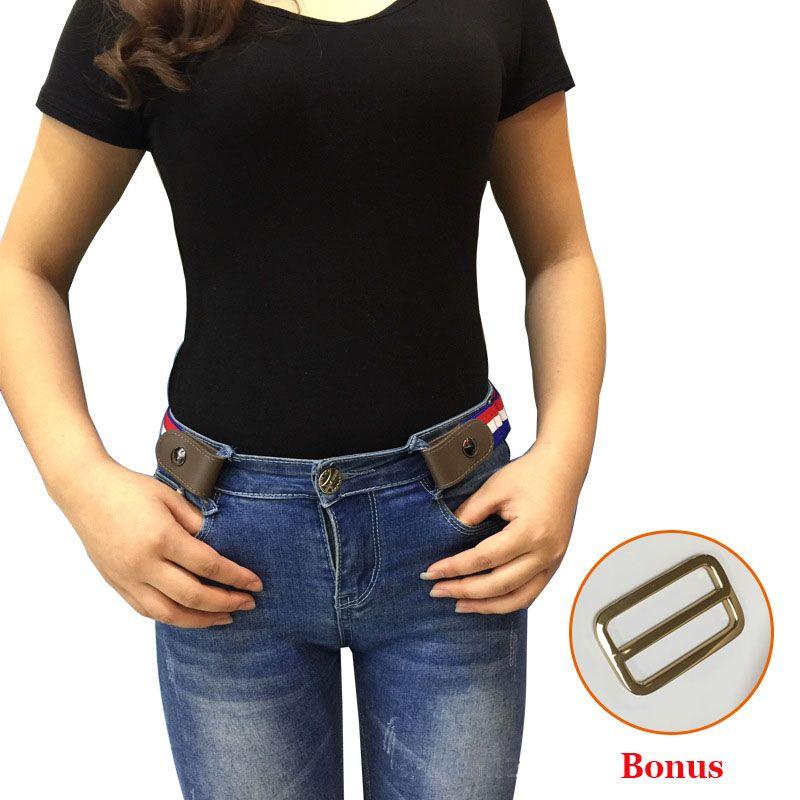 Buckle-Free Elastic Belt For Jean Pants Dresses No Buckle Stretch Elastic Waist Belt For Women Men No Bulge No Hassle Waist Belt