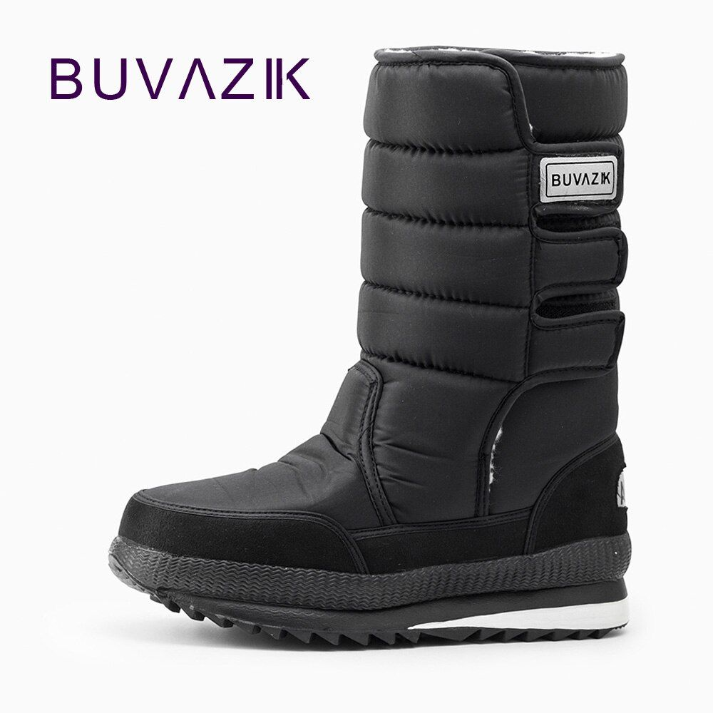 Male boots thickening thermal waterproof snow boots cotton fabric inside warm Knee-High outdoor men fashion winter shoes