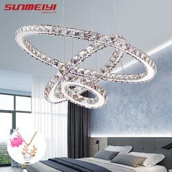 Modern LED Crystal Chandelier Lights Lamp For Living Room Cristal Lustre Chandeliers Lighting Pendant Hanging Ceiling Fixtures