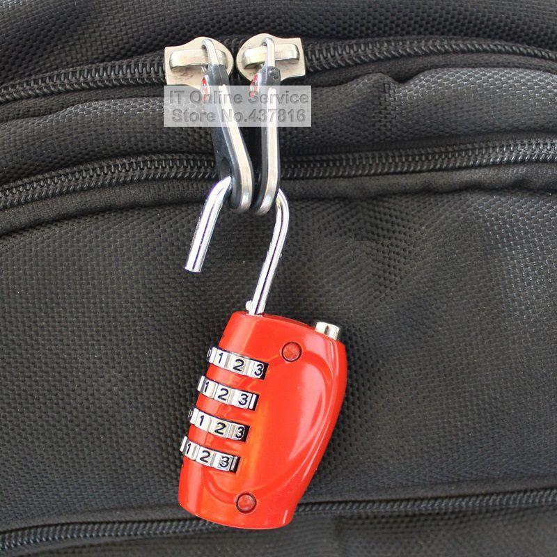 1 шт. 4 цифры Комбинации Пароль замок Металл замок Путешествия Чемодан чемодан молния сумка Кабинет ящика замок 800118