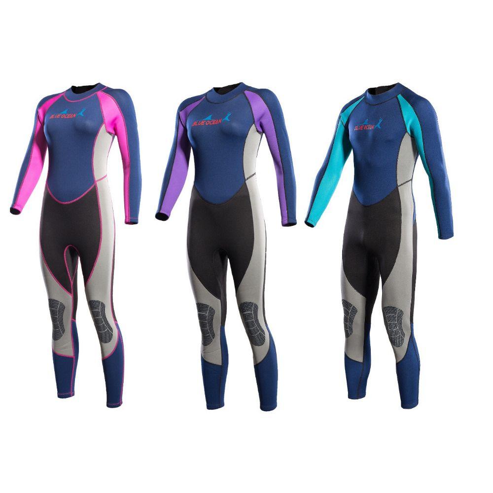 2MM Men&Women Neoprene Scuba Diving Wetsuit One-piece Surfing Snorkeling Swimming Long Seeve Sunscreen Full Body Diving Suit