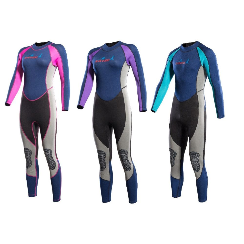 2MM Men&Women Neoprene Scuba Diving Wetsuit One-piece Surfing Snorkeling Swimming Long Seeve Sunscreen Full Body Diving Suit