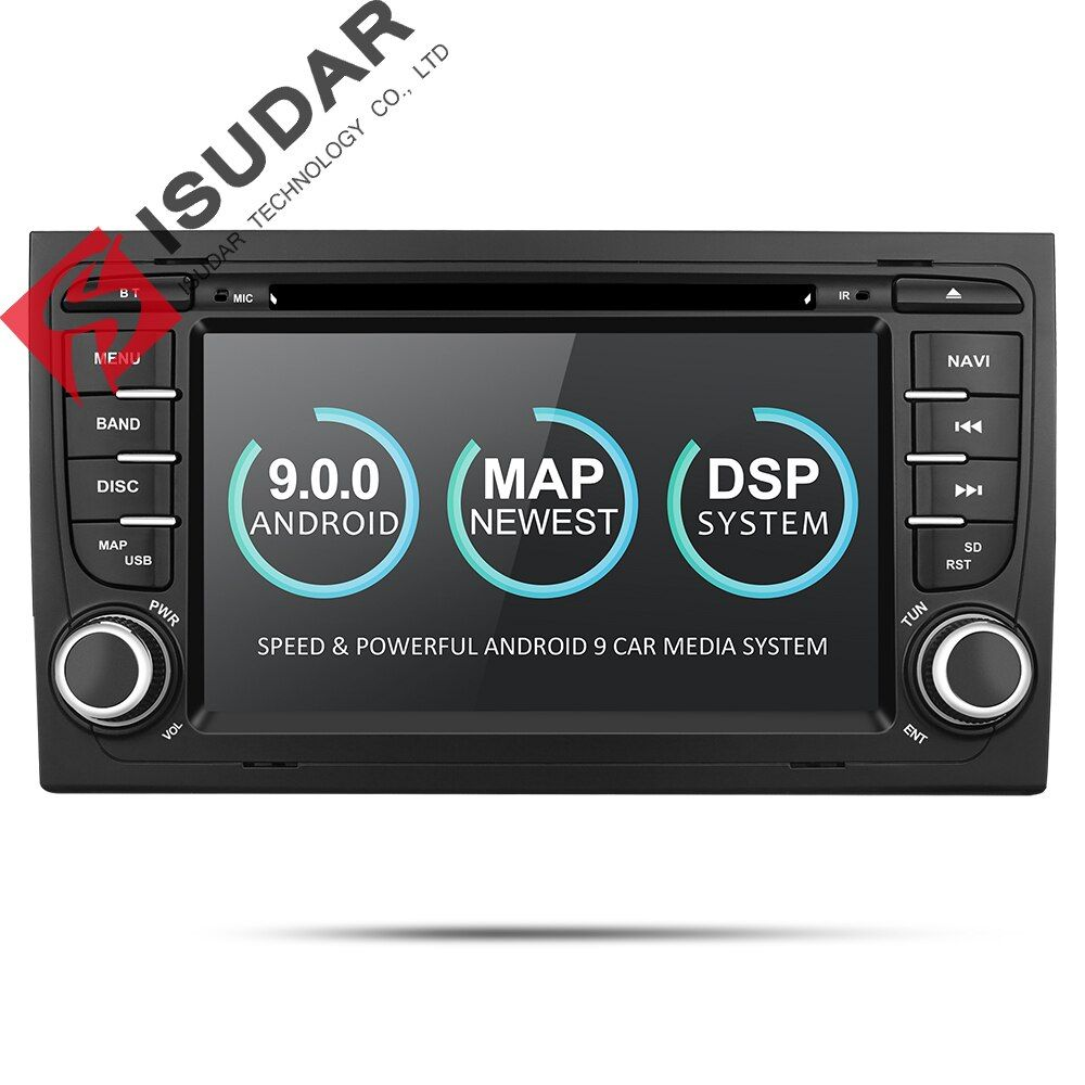 Isudar 2 Din Auto Multimedia Player GPS Android 9 DVD Automotivo Für Audi/A4/S4 2002-2008 Radio quad-Cores RAM 2 GB ROM 16 GB DSP