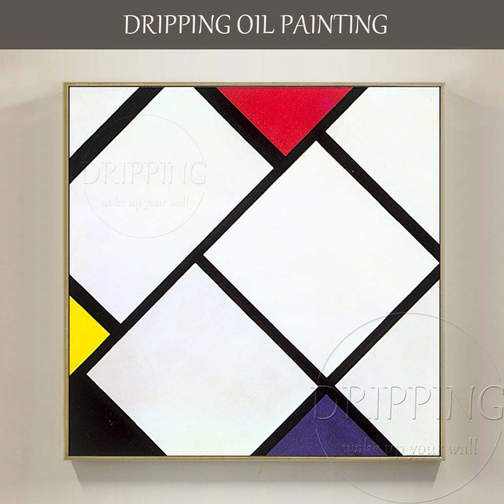 Simple Design Artist Hand-painted High Quality Modern Abstract Geometry Oil Painting on Canvas Simple Nordic Oil Painting