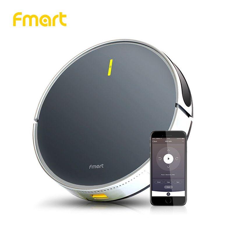 Fmart Roboter-staubsauger App WIFI Steuer B66 Smart Control Anwendung Geplant Kehr und Nass Reinigung Hohe saug nass trocken