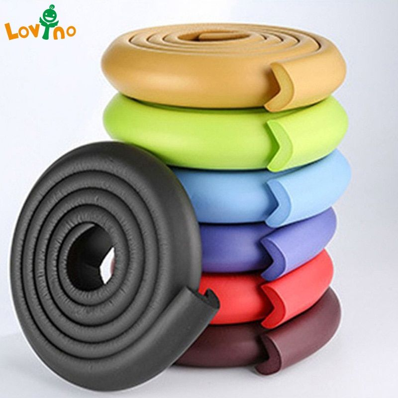 2018 New Arrival Hot 2M Child Protection Corner Protector Baby Safety Guards Edge & Corner Guards Solid Angle Form Single Loaded