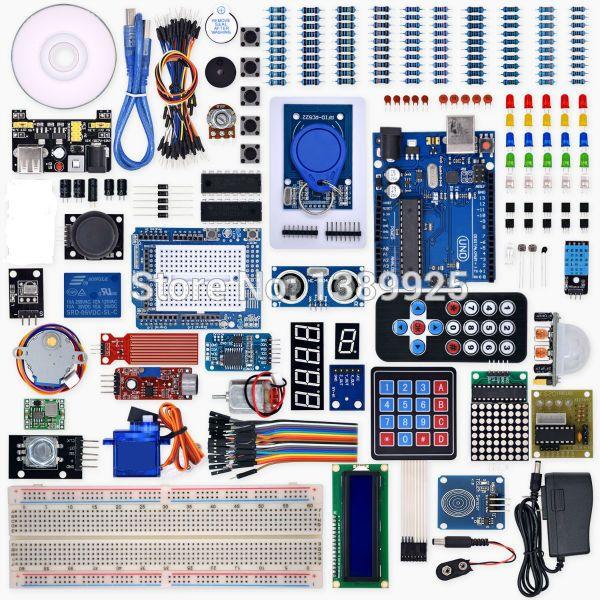 Weikedz UNO R3 Projet Complete Starter Kit avec Leçon CD, UNO R3, Cavalier, pour Ar-du-ino