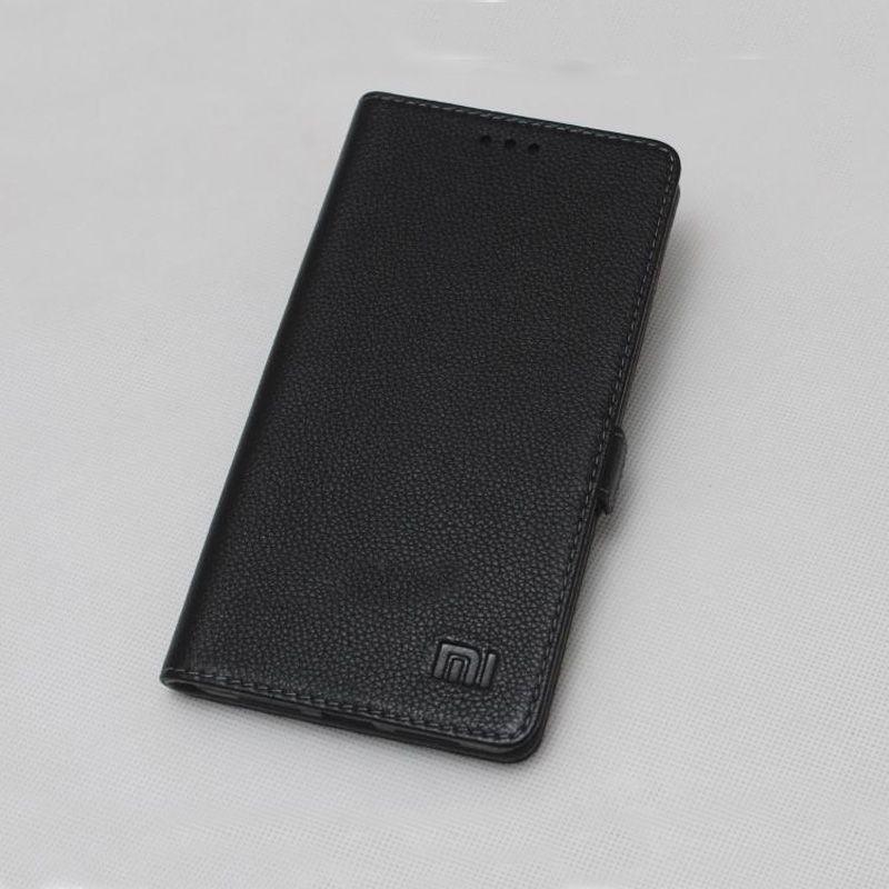 Original Case für Xiaomi Mi 6 Phone Cases Klassische Echtem Rindsleder Flip Abdeckung Fall für Xiaomi Mi6 Tasche Coque-schwarz