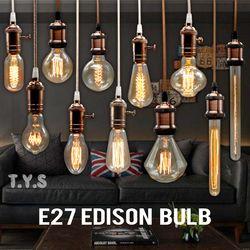 Edison Lâmpada Incandescente E27 220 v Casamento Do Vintage Pingente de Luz Da Lâmpada Retro lâmpadas de Iluminação Do Teto Lâmpada De Filamento De Carbono