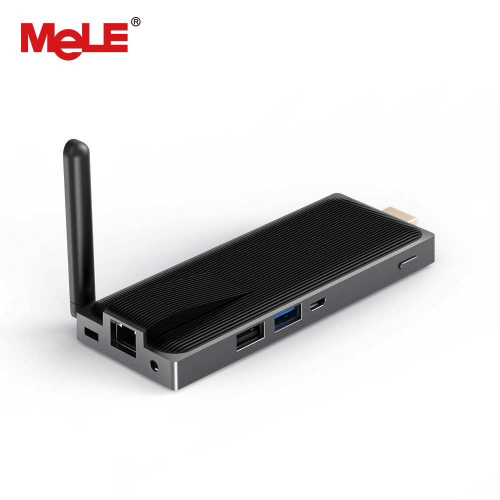 Fanless mini ordinateur mini pc Bâton 2 GB 32 GB MeLE PCG02 Plus Quad Core Intel Atom Z8300 Windows 10 HDMI 1080 P LAN WiFi