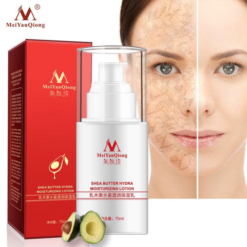 Shea Butter Gesicht Emulsion Hydra Feuchtigkeits Lotion Hautpflege Gesicht Creme Anti-Aging-Bleaching Schönheit Machen Up Serum Nacht creme