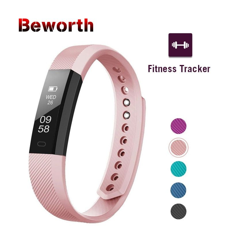 Fitness Tracker Smart Bracelet ID115 Bluetooth Band Activity Monitor Alarm Clock Vibration Sports Wristband for iPhone Android