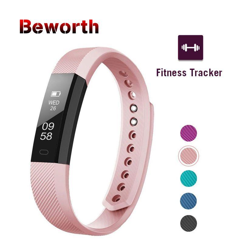 Traqueur de remise en forme bracelet connecté ID115 Très BIEN APP Bluetooth bande moniteur d'activité réveil bracelet sport pour iOS Android