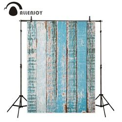 Allenjoy photography backdrop vintage blue wood wall vertical stripes background fantasy photocall props