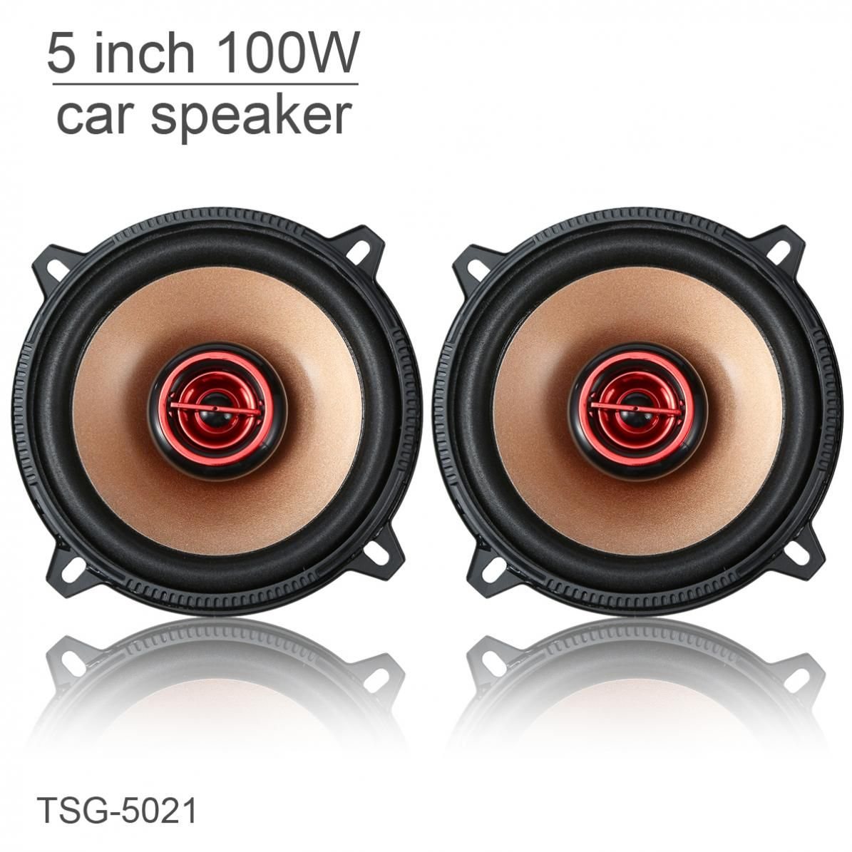 TSG-5021 2pcs 5 Inch 100W 12V Coaxial Full Range Frequency Car Audio Stereo Speaker Automobile Loudspeaker for Cars