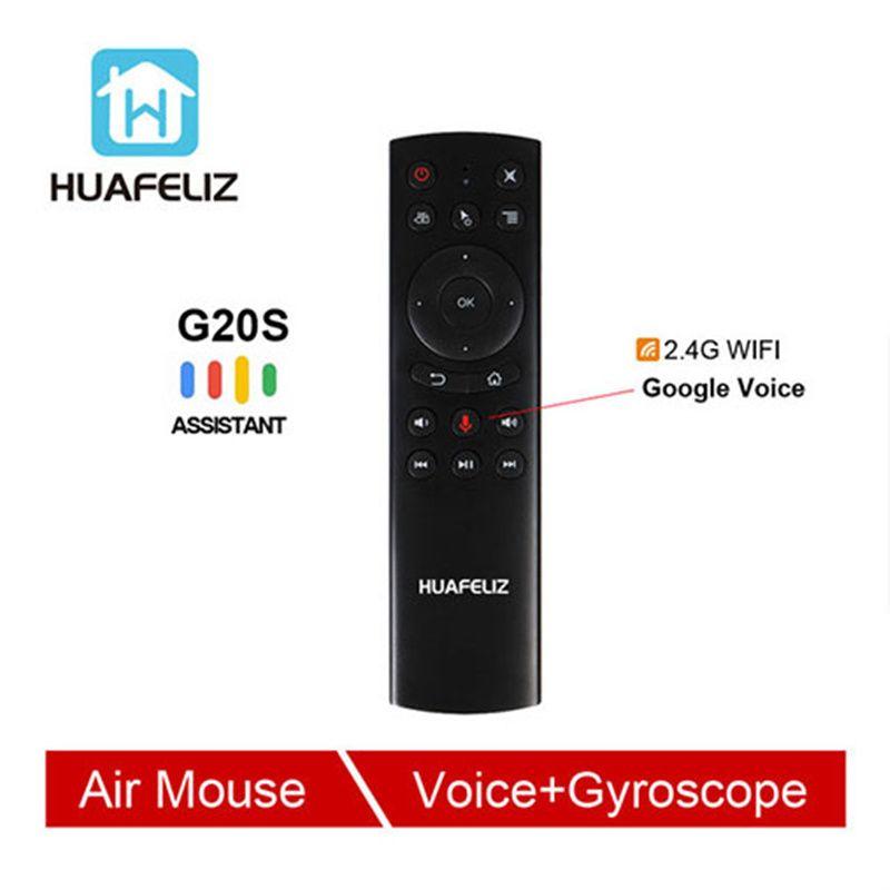 G20 commande vocale 2.4G sans fil G20S mouche Air souris clavier détection de mouvement Mini télécommande pour Android TV Box PC