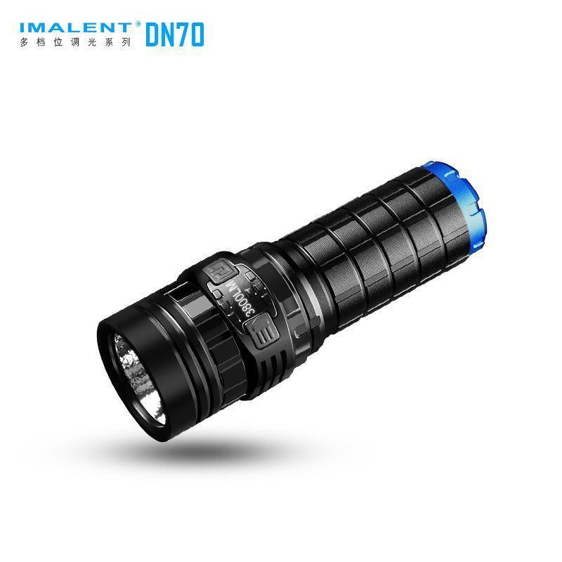 IMALENT DN70 USB Rechargeable CREE XHP70 3800 Lumens 325 mètres lampe de poche LED par 26650 batterie