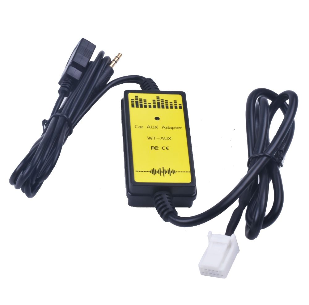 Car CD Adapter MP3 Audio Interface AUX USB Adapter SD 2x6P Connect CD Changer for Toyota Camry Corolla Auris Lexus