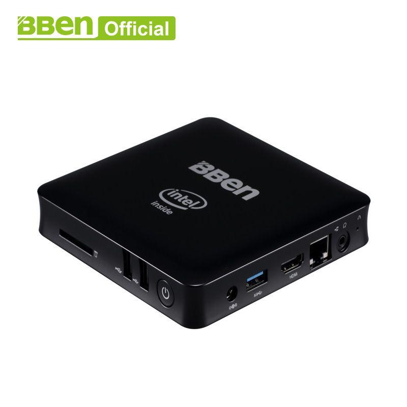 Bben Mini Computer Mn11 Z3850 Quad Core 2G/4G RAM 32/64G EMMC ROM Mini PC Windows10 Lan TV box USB3.0 WIFI desktop computer box