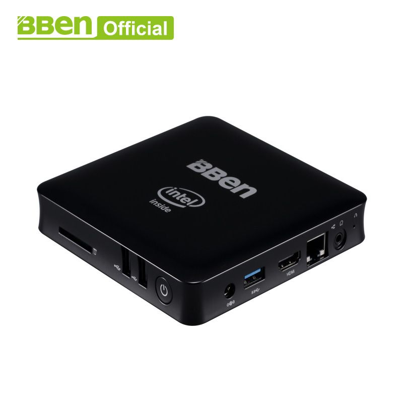Bben Mini Computer Mn11 Z3850 Quad Core 2G/4G RAM 32/64G EMMC ROM Mini PC Windows10 Lan TV box USB3.0 WIFI desktop computer box