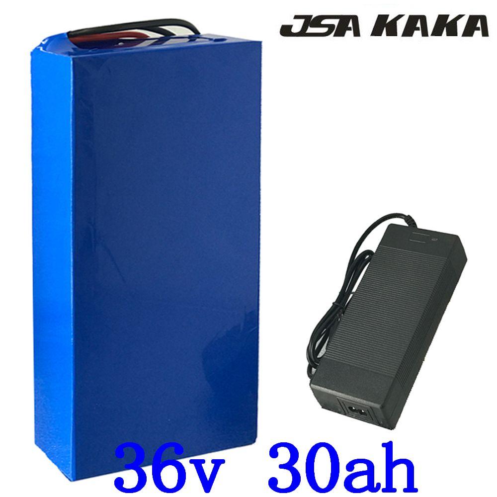 1000 W 36 V 30ah elektrische Fahrrad batterie 36 V 30AH Lithium-Batterie 36 V 30AH ebike batterie mit 30A BMS 42 V ladegerät Freies gewohnheiten Steuer