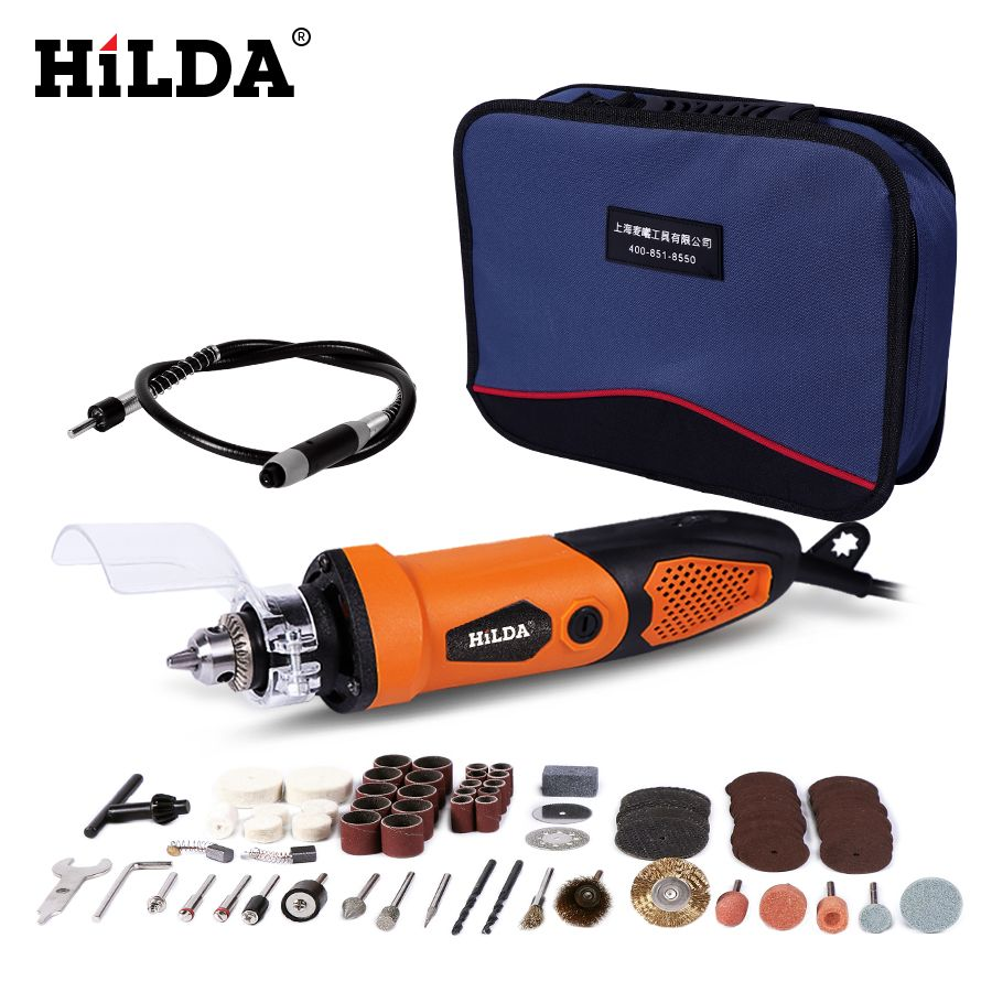 HILDA 450W Electric Drill For Dremel Grinder Engraving Pen Grinder Mini Drill Electric Rotary Tool Grinding Machine