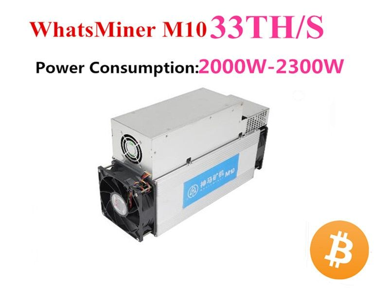 BTC BCH Miner Asic Bitcoin Miner WhatsMiner M10 33TH/S Mit Netzteil Besser Als M3 Antminer S9 S9i s9j INNOSILICON T2T