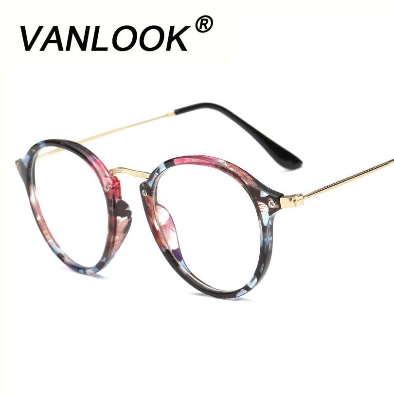 Анти Blue Ray Для женщин компьютер Очки для Для мужчин прозрачный глаз Очки Круглый Мода зрелище Рамки oculos-де-грау женский покрытия