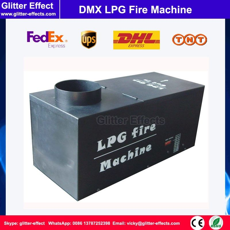 DMX 512 Rectangle shpae LPG flame projector Stage performance show Special Effect spray fire machine for nigh club