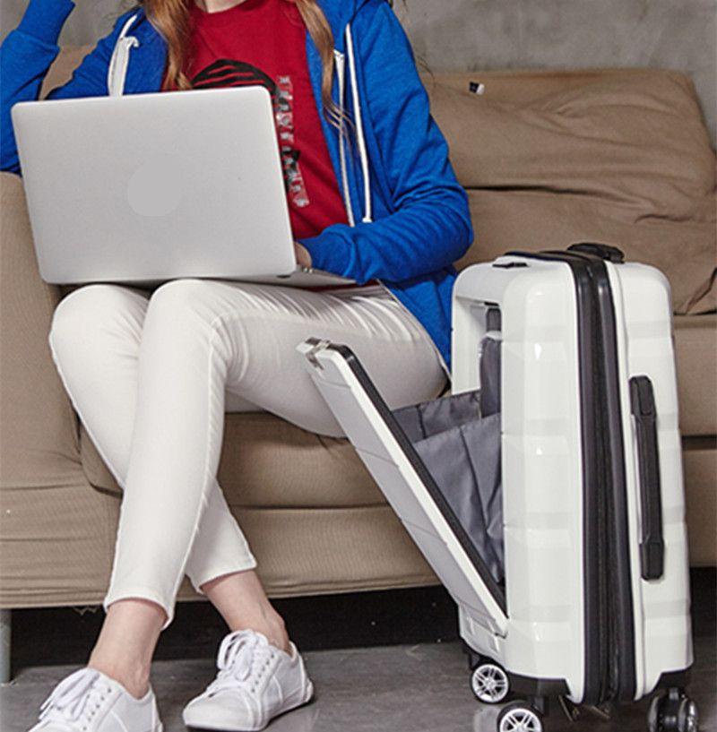 20/24 Computer Loptop Suitcase Rolling Luggage Hardside Spinner Trolley Bag Travel Boarding mala de viagem valise koff XL022