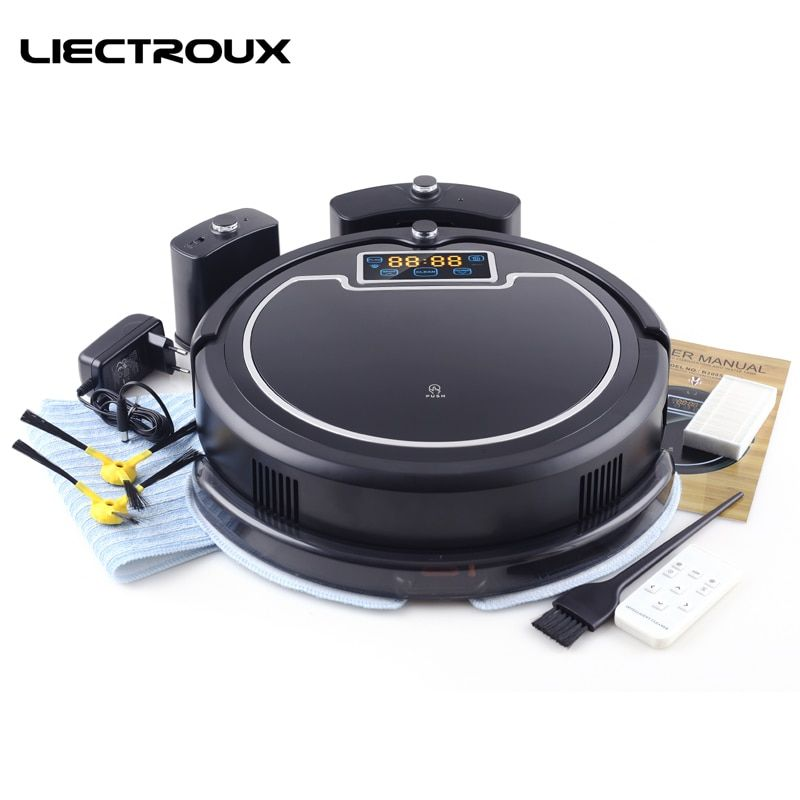 (Free to all)LIECTROUX B2005PLUS Wet and Dry Mop Robot Vacuum Cleaner with SelfCharge Home Smart Remote Control Cleaning Robot