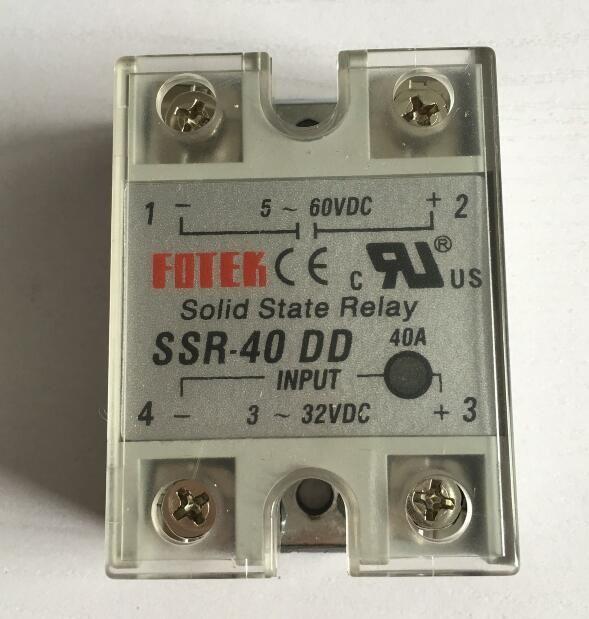 5 stücke 5-60VDC zu 3-32VDC 40A SSR-40DD Solid State Relais-modul mit Kunststoffabdeckung