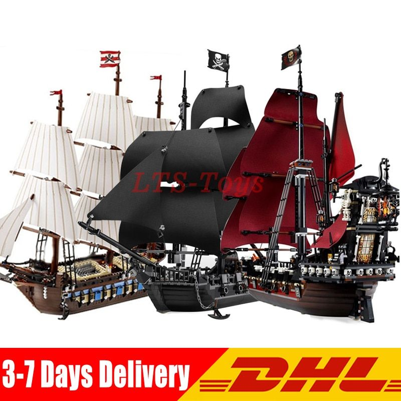 LEPIN 16006 Pirates of The Caribbean Black Pearl +16009 Imperial Warships+22001 Pirate Ship Imperial Warships Compatible Legoing