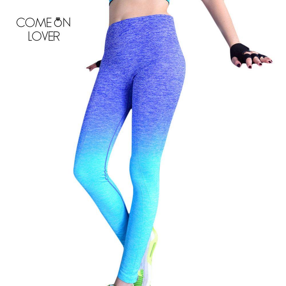Comeonlover Femmes Mince Sportleggins Haute Élastique Confortable Pantalons D'entraînement Changement Progressif Respirant femmes Leggings de Remise En Forme