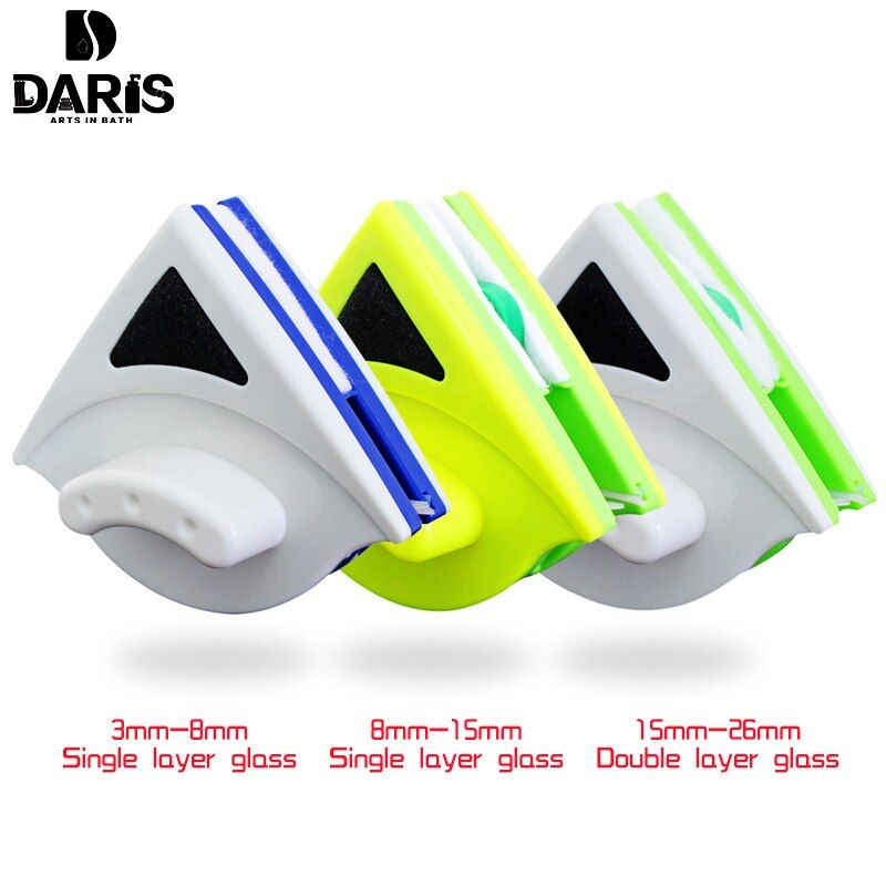 SDARISB Double Side Glass Cleaning Brush Magnetic Window Cleaning Magnets Household Cleaning Tools Wiper Useful Surface Brushs