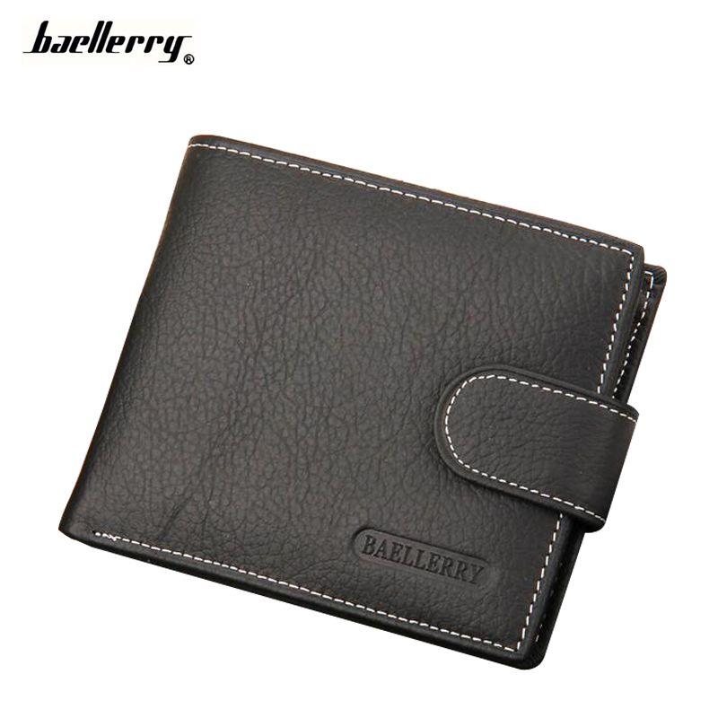 Sale Wallet Men Leather Wallets Male Purse Money Credit Card Holder Case Coin Pocket Brand Design Money Billfold Maschio Clutch
