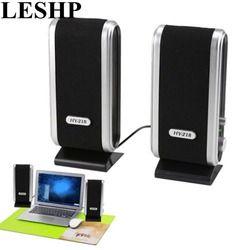 LESHP Computer Speaker HY-218 Portable USB Stereo Soundbox Music Speakers For Desktop Easy Portable Multimedia Speakers