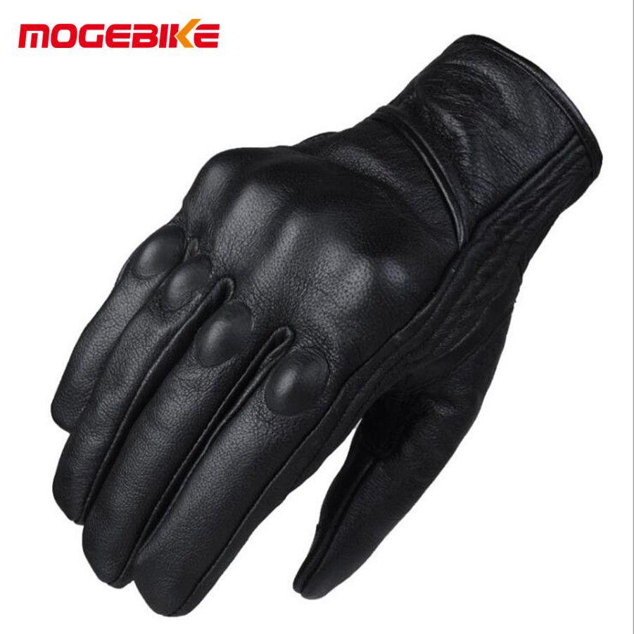 Motorrad Handschuhe Ziegenleder Echte Echtem Radfahren Alle Saison Moto Handschuh Männer Racing Motorrad Guantes Luvas