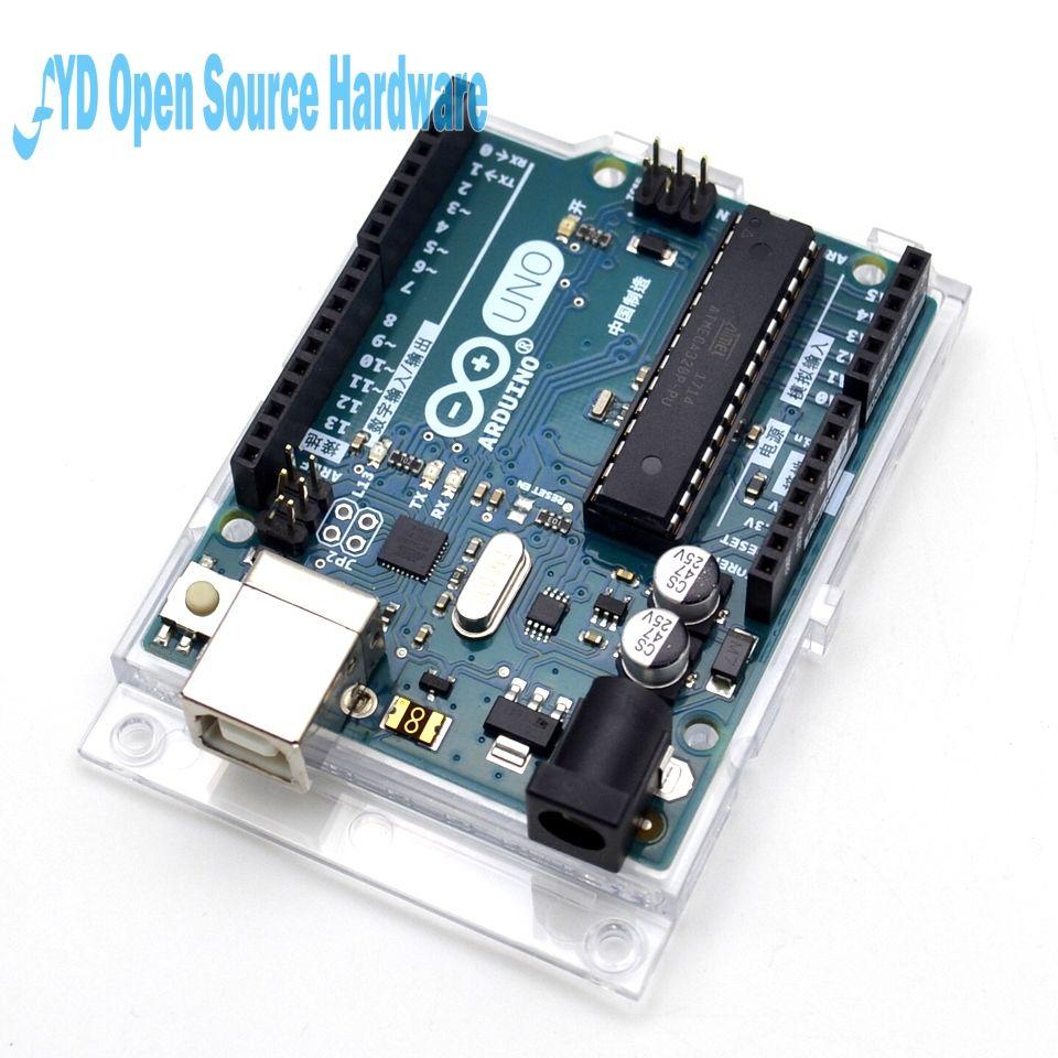1 pcs Nouveau et original UNO R3 ATMega328P Arduino UNO R3 ATMega328 Officiel Véritable avec câble